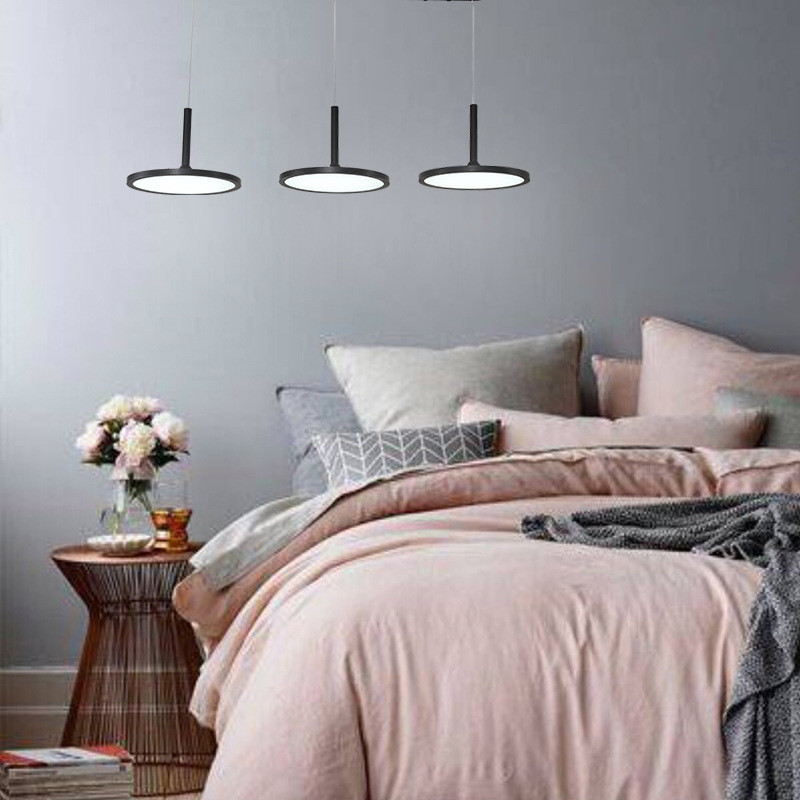 3 Heads LED Dining Room Chandeliers Modern Simple Round Living Room Restaurant Bar Coffee Shop Bedroom Study Lamp Free Shipping zx modern round acryl pendant lamp simple restaurant led chip droplight single head study bar shop office lamp free shipping