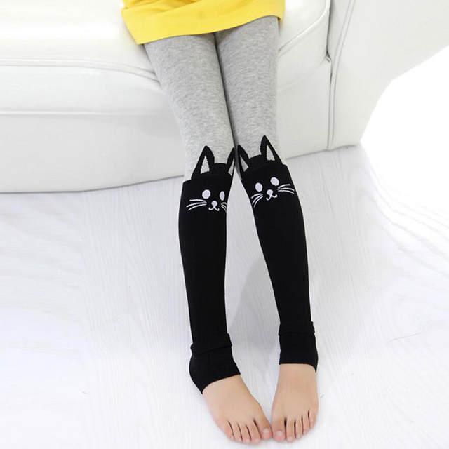 206045d3e Online Shop Toddler Girls Leggings Cute Cat Colorful Cotton Warm ...