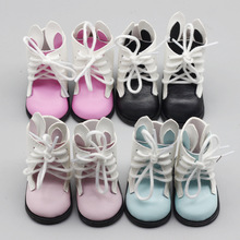 все цены на 1 Pair New Bjd Dolls Shoes For 1/3 60cm Doll Accessories Toy Mini PU Shoes for SD Sharon Doll Leather Boots Toys for Girls онлайн