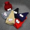 Ojos grandes Niños Lindos Sombrero de Mago De Moda Muchachas de Los Bebés de Punto Caps 7 Colores Calientes Del Invierno Niños Sombrero de la Navidad