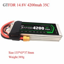 GTFDR power RC Drone lipo battery 14 8v 4200mAh 35C 4s FOR RC airplane verticraft car