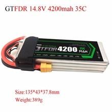 GTFDR power RC Drone lipo battery 14.8v 4200mAh 35C 4s FOR RC airplane verticraft car cell akku 4s rc li-poly batteria