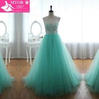 2014 Real Sample Scoop Cap Sleeve Floor Length Long Girl Party Prom Dresses Graduation Dresses Green