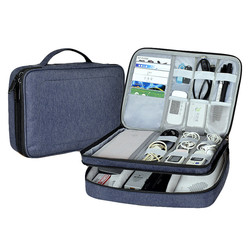 Waterproof Electronic Accessories Storage Bag USB Gadget Data Cable Organizer Protective Sleeve Pouch Case Bag for iPad