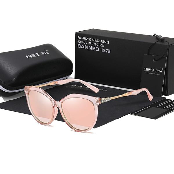 2019 New Luxury HD Polarized Women Sunglasses Fashion Round Ladies Vintage Brand Design cat eye woman Female Sun Glasses oculos 8
