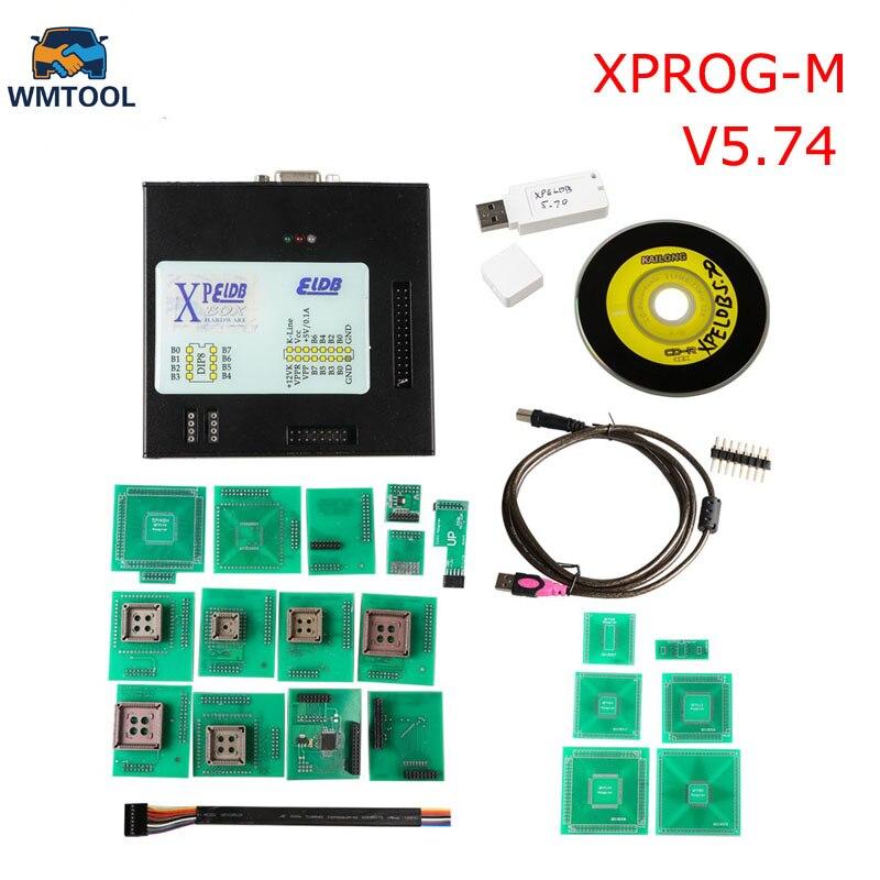 Newest Xprog M V5.74 New Generation Released X-PROG M Metal Box ECU Programmer with USB Dongle X PROG ECU Flasher Tool good quality x prog m 5 0 free shipping