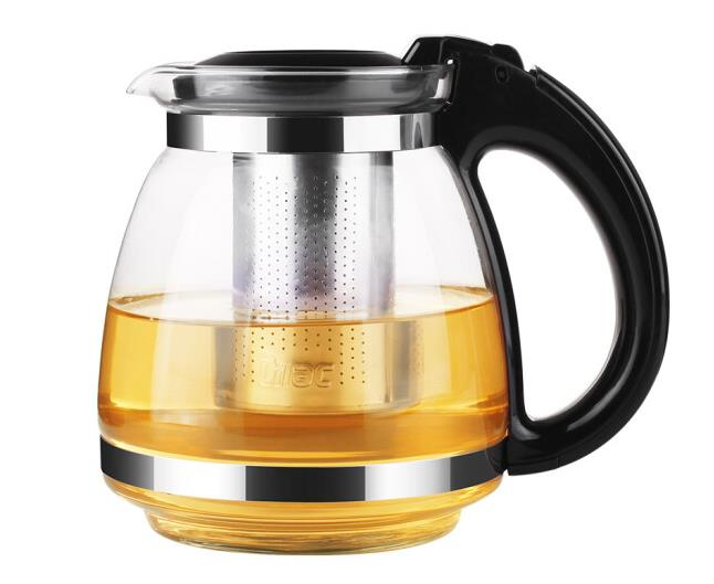 Alert Zidingxiang Household Tea Maker Accessories 1.5l Hand Hold Tea Pot Glass Home Teapot 304 Stainless Steel Stainless Steel Filter An Enriches And Nutrient For The Liver And Kidney Water Treatment Appliance Parts
