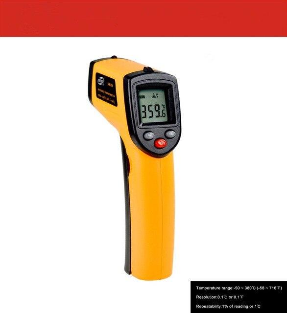 Лазерный ЖК-дисплей цифровой инфракрасный термометр Температура метр Пистолет Бесконтактный термометр Benetech GM320