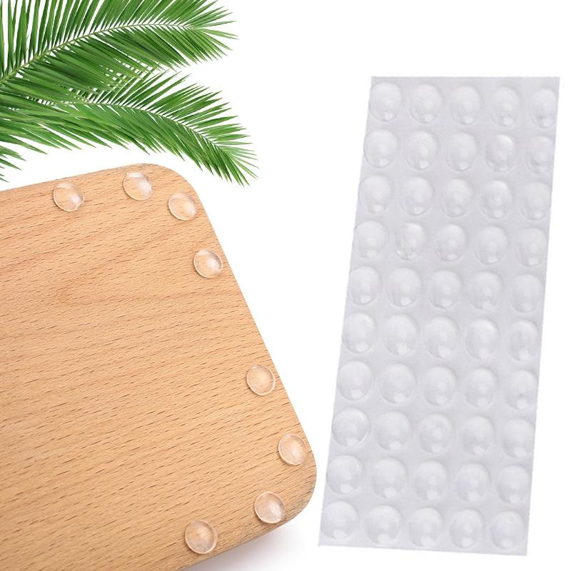 50pcs Hemispherical Shape Rubber Bumper Damper Door Stop Cushion Drawer Multi-Function Furniture Legs Transparent Cupboard