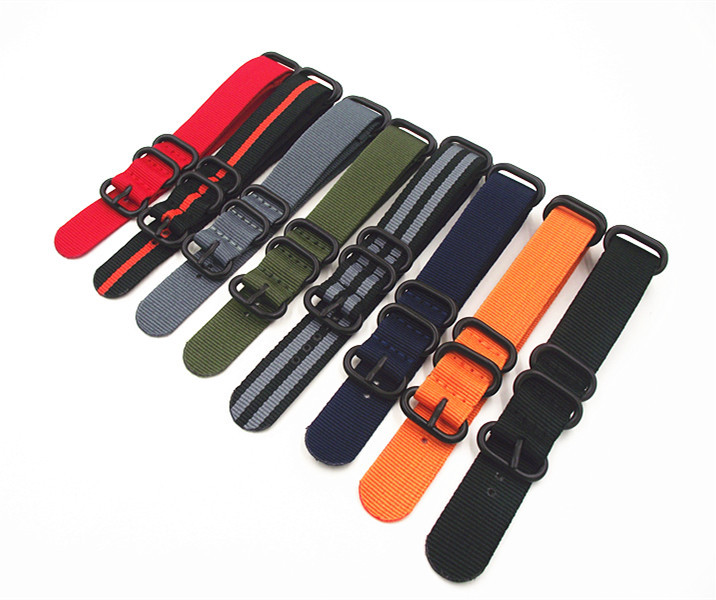 2017 new top Multi-Colour nylon straps 18/20/22/24mm Nylon Watch band NATO zulu watch strap ring buckle Watches nylon straps(China (Mainland))