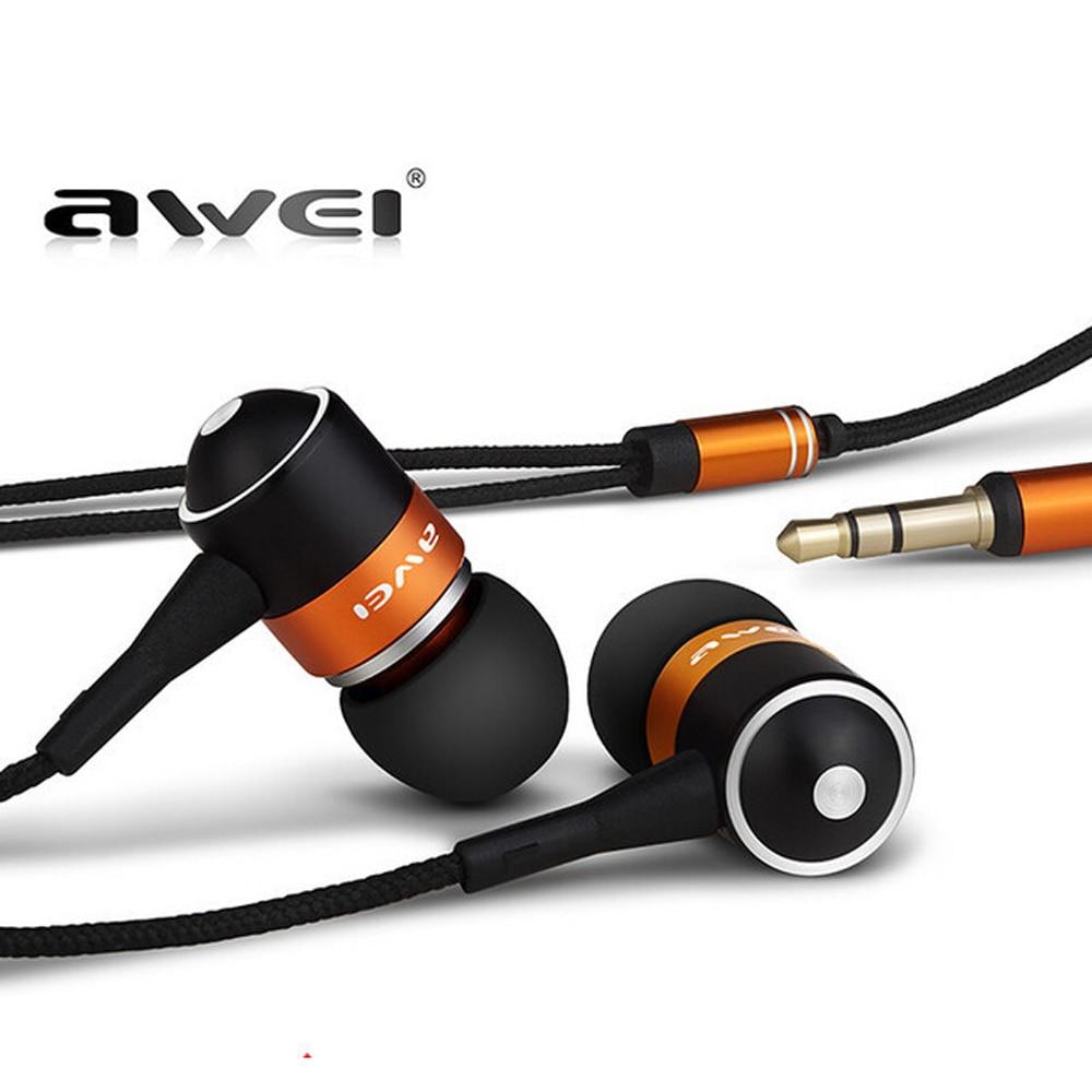 Awei Q3 Hifi Sport Stereo Headphones Headset In ear Earphone For Your In Ear Phone Buds