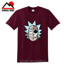 Parodi Rick dan Morty Futurama Combo Rick Sanchez Bender Baru Katun T Shirt S 3Xl 100% Katun Pria Teenages T kaos Custom(China)
