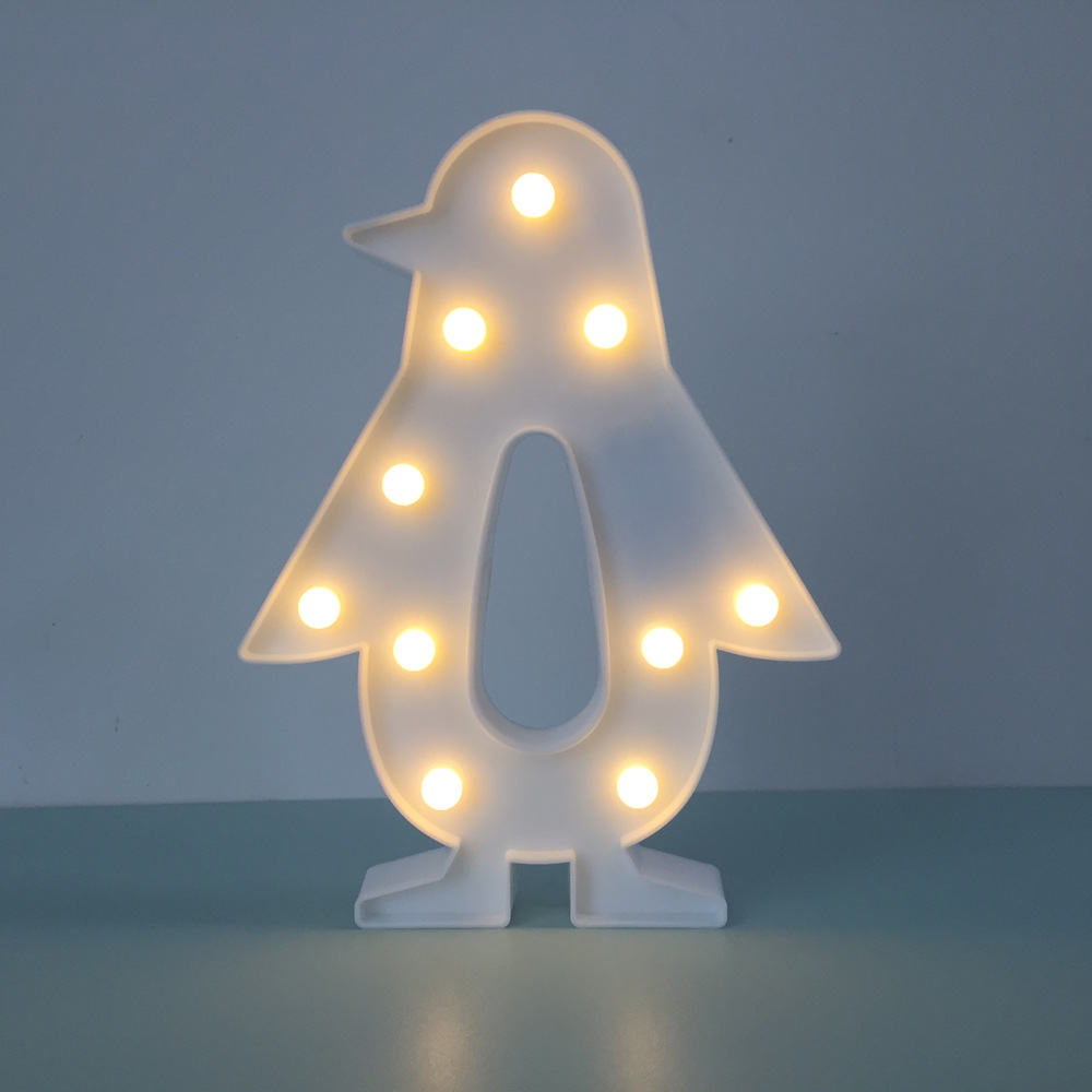 kunststoff pinguin 3d nachtlicht batterie led nacht lampen. Black Bedroom Furniture Sets. Home Design Ideas