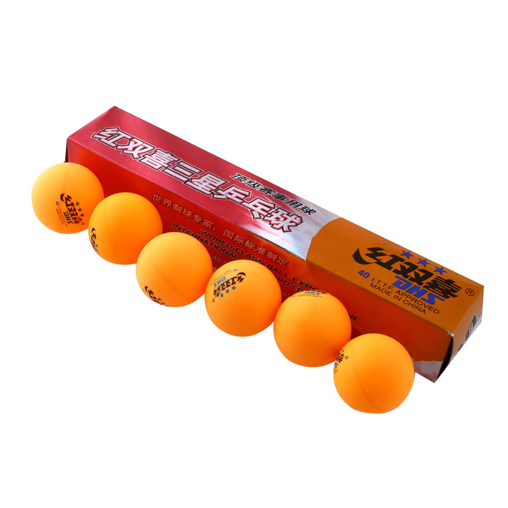 High Quality 20 boxes 6 Pcs 3 stars DHS 40MM Olympic Table Tennis Orange Yellow Ping Pong Balls Durable For Competition