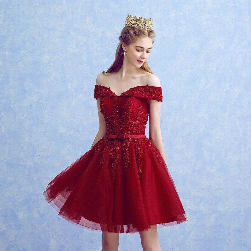 209 new Short Applique Off Shoulder   Cocktail     Dresses   A-ling Party   Dress   custom made