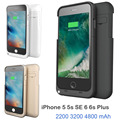 USA RU External Power bank pack backup battery Charger case for iphon 5 5S SE 6 6s Plus with usb cable line