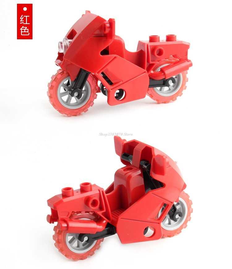 Legoing Duplo accessoire famille jouets ensembles briques chemin de fer gros rail blocs de construction remorque téléphones accessoires bricolage jouets piste Duploed