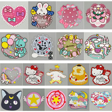 18styles Cartoon Non-slip cup coaster placemat for dining table Silicone Cup Drinks Holder Mat Tableware