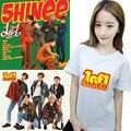 HPEIYPEI KPOP Shinee Onew Corea Moda Corazón Extraño quinto Álbum K-POP 1of1 1 de 1 Algodón Camiseta Camisetas Camiseta PT261