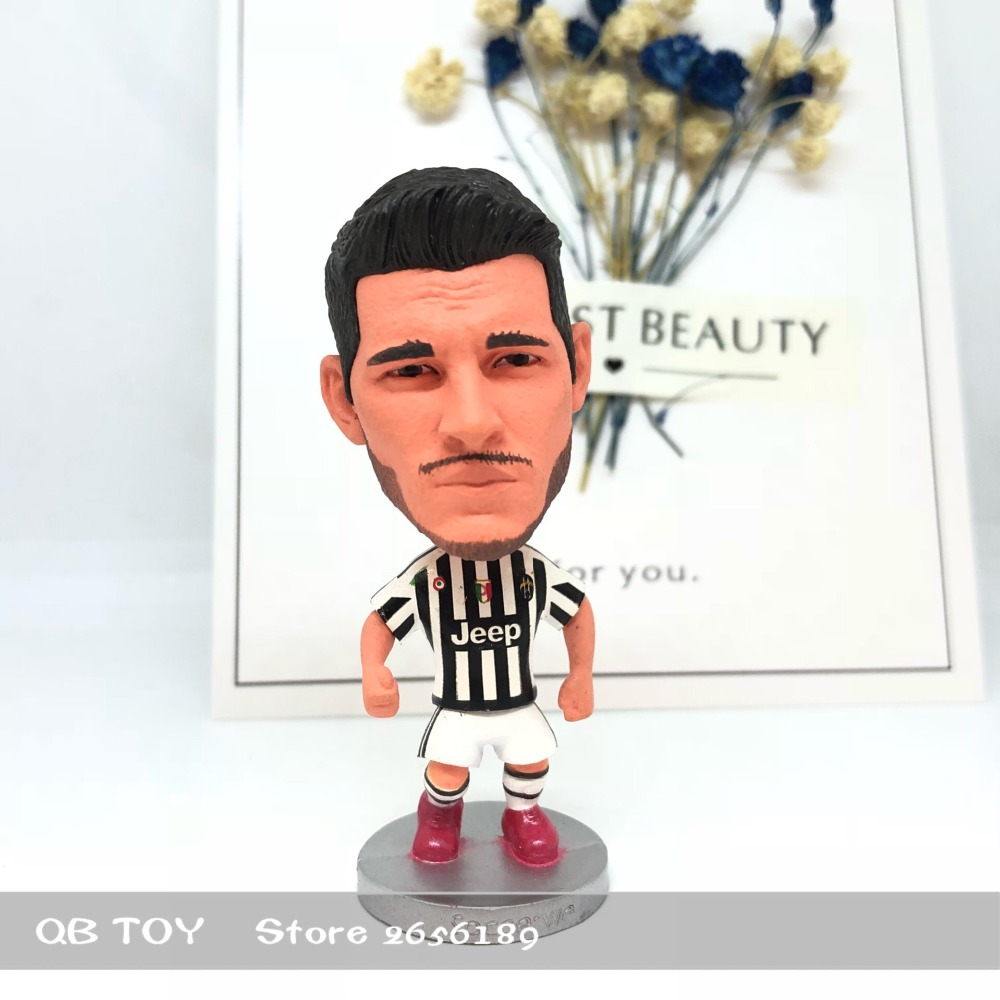 Soccer figure football stars Classic JUV Morata 9# 15-16 Movable joints resin model toy action figure dolls collectiblegift