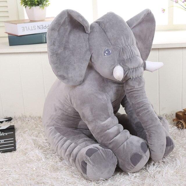 Height Large Plush Elephant Doll Toy Pet Sleeping Back Cushion Cute Stuffed Elephant Cat Puppy Xmas Gift