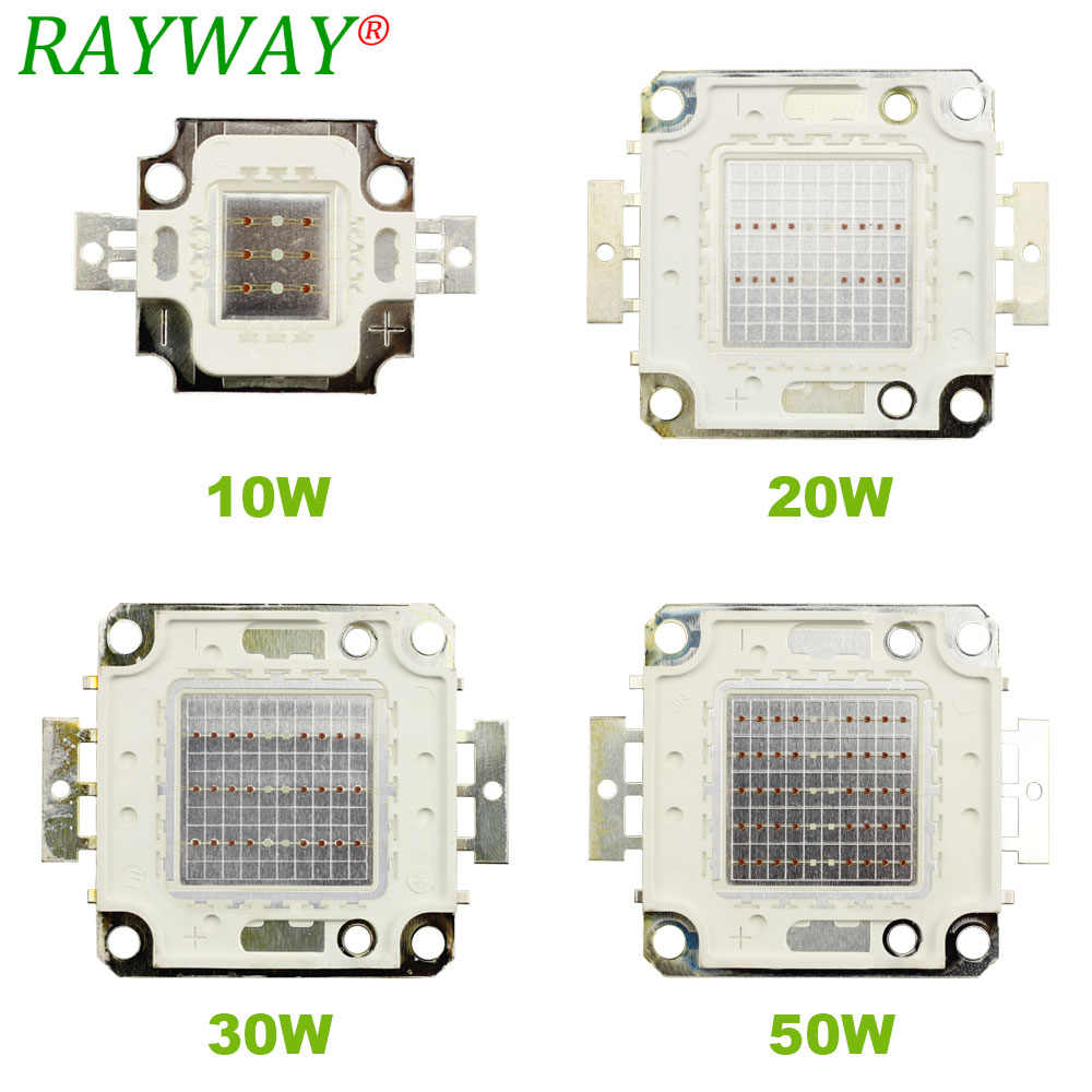 RAYWAY 10W 20W 30W 50W Full spectrum led grow lamp COB chip Red 640nm Blue 460nm led  grow light  led grow chip for plant grow