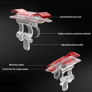 Image 3 - 2PCS Handy Spiel Controller Gaming Trigger Feuer Taste L1R1 Trigger Ziel Taste Shooter Joystick Für PUBG Telefon Gaming