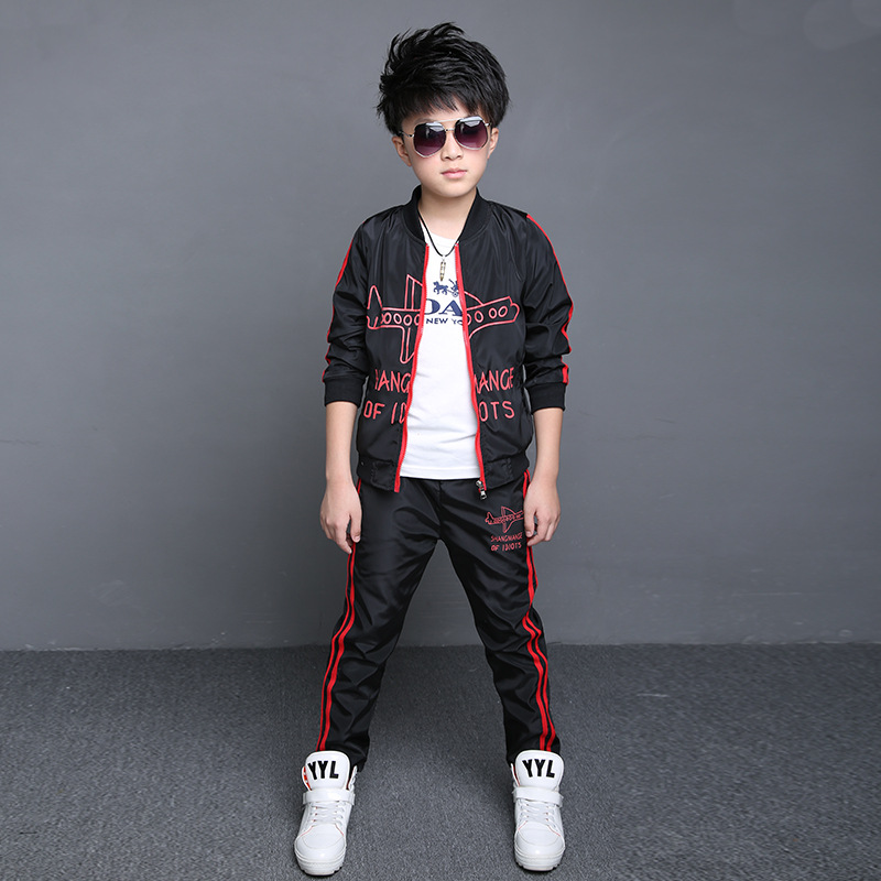 2016 Teenage Boys' Clothing Set Kids Boys Sport Suits Set Spring Autumn Long Sleeve Top & Pants 2 pcs Outfits Boys Tracksuit помады still still still585 avant garde помада 585 питательная orient город ангелов 4 г