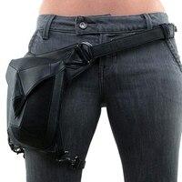 FGGS Steampunk PU Leather Waist Bag Vintage Gothic Steampunk Fanny Waist Leg Bag