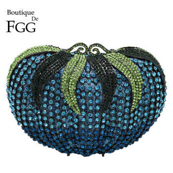 Boutique De FGG Women Diamond Strawberry Evening Clutch Bag Gala Dinner Metal Minaudiere Handbags and Purses Bridal Crystal Bags - DISCOUNT ITEM  50% OFF All Category