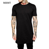 NEW Fashion Black Long Size Tshirt Summer Style Cloth Single Color Short Sleeve