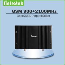 С высоким коэффициентом усиления 75dbm gsm 3 г повторитель двухдиапазонный 900 МГц 2100 МГц WCDMA UMTS мобильного сигнала booster repeater с ЖК-дисплей AGC/MGC