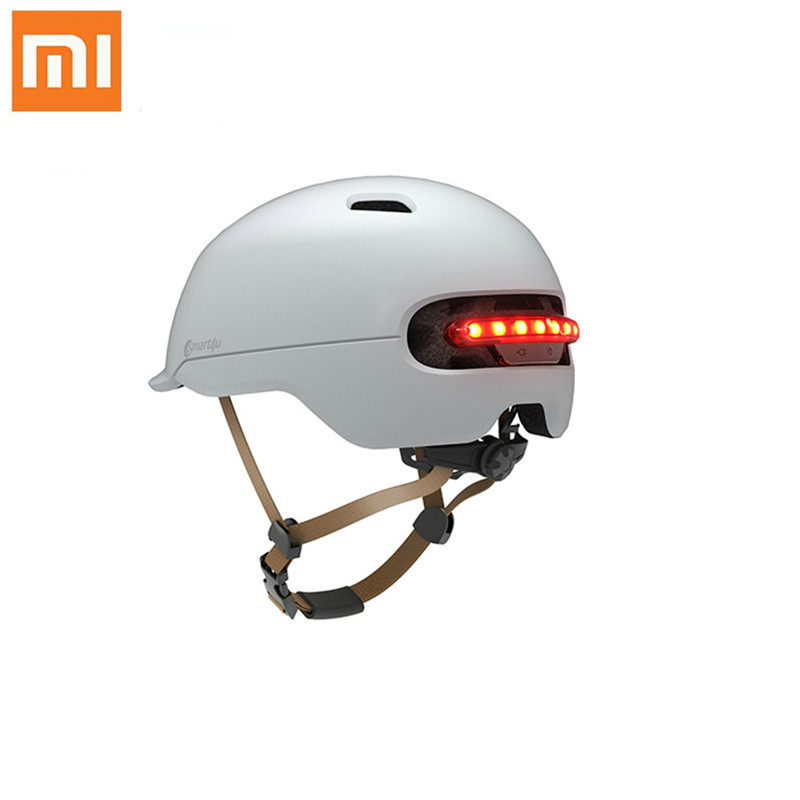 New Xiaomi Bicycle Smart Flash Helmets Matte Men Women Helmet Back Light Mountain Road Scooter Integrally Molded Electrombile