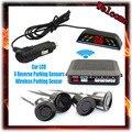 Беспроводной 2.4 ГГц Комплект Приемник Передатчик Автомобиля СВЕТОДИОДНЫЙ Датчик Парковки с 4 Датчиками 7 Цветов + Sound Alarm BIBIBI. простота установки