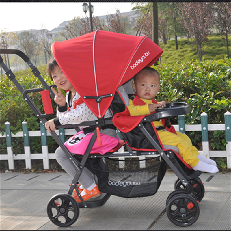 Light Twins Baby Stroller With Front And Rear Seats, Twins Stroller, Stroller Twins, Double Stroller, Super Shock Baby Trolley double stroller red pink blue color twins infant stroller sale kids sleep comfortable more at ease sophisticated technologies