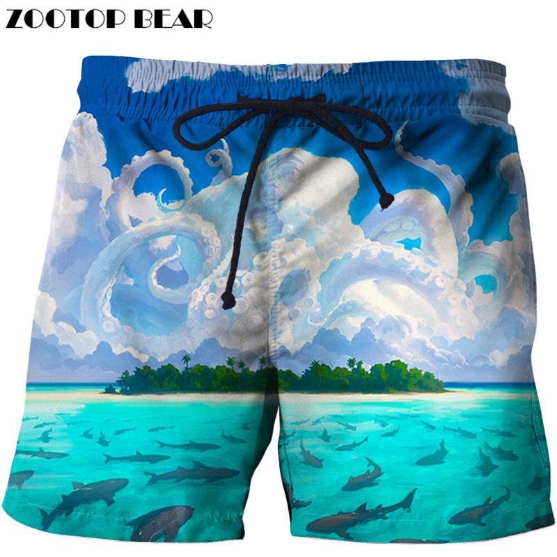 3d Printed Beach   Shorts   Men   Short   masculino 3d Trousers Fashion Swimwear Quick Dry Pant   Board     Shorts   Plage DropShip ZOOTOP BEAR