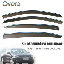 Overe 4Pcs/1Set Smoke Window Rain Visor For Honda Accord 2008 2009 2010 2011 2012 2013 Vent Sun Deflectors Guard Accessories(China)