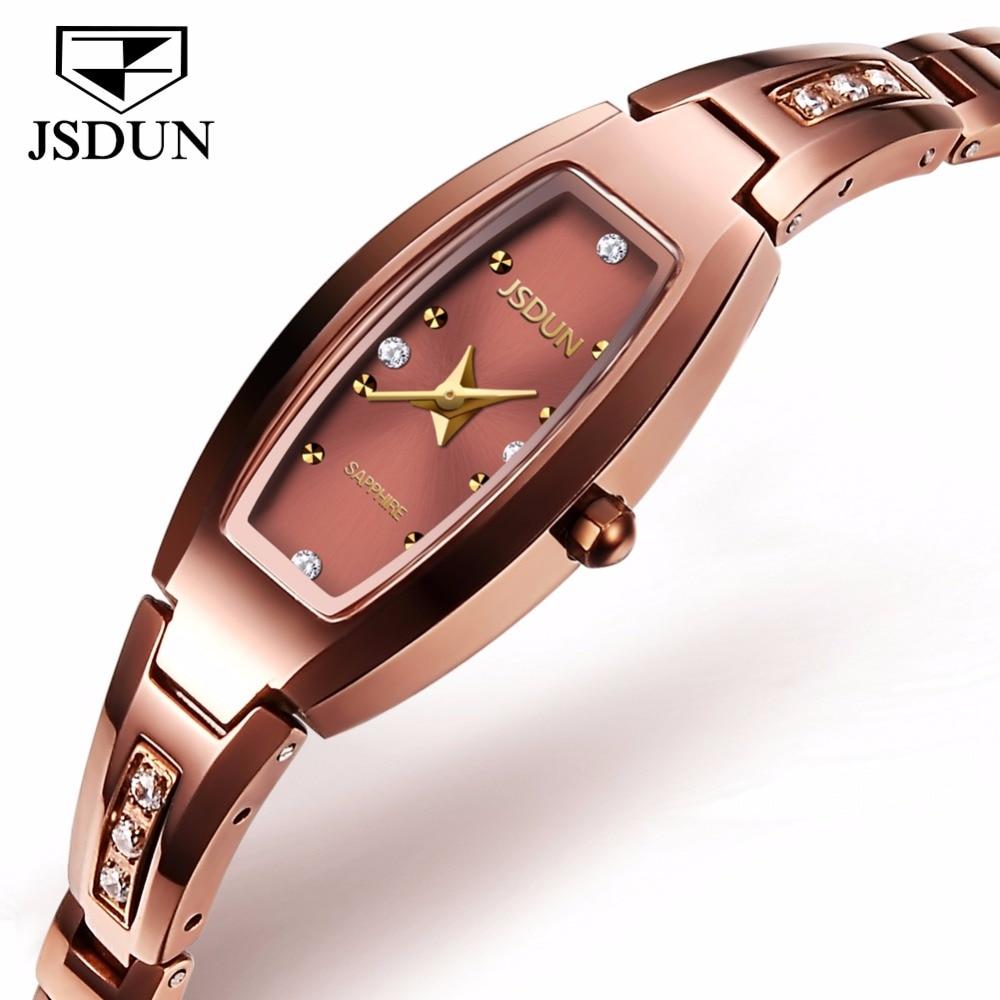 JSDUN Mince Bracelet Bracelet Montre Pour Les Femmes Bracelet En Acier De Tungstène Top Marque Dames Montres À Quartz Horloge Montre-Bracelet relogio 6530