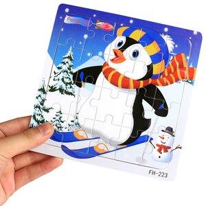 Image 4 - Holz Puzzles Spielzeug 20Pcs Kinder Freude Überlegene Qualität Puzzle Holz Cartoon Tiere Puzzles Pädagogisches Spielzeug Für Kinder