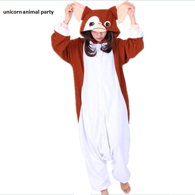 100% Waar Siamese Bruin Gremlins Gizmo Volwassen Unisex Kigurumi Jumpsuit Halloween Carnaval Party Kerst Rompers Pyjama Pyjama Cosplay