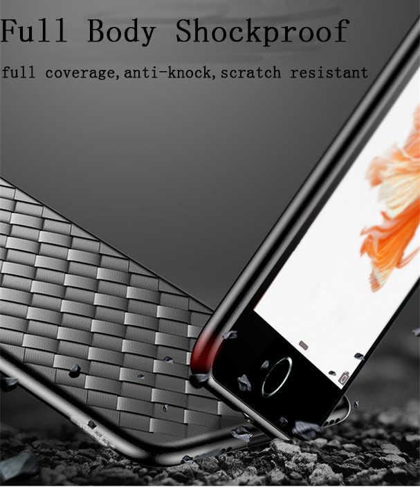 スーパーソフトフォンケースの 8 高級グリッドウィービングケース iphone 6 6s 7 8 プラス XR X XS 11 プロマックスカバーシリコンケース