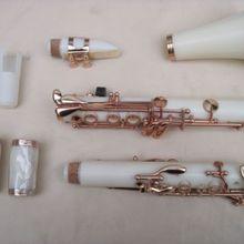 Белый комплект для кларнета Bb 17 ключ покрытие никелевый ключ