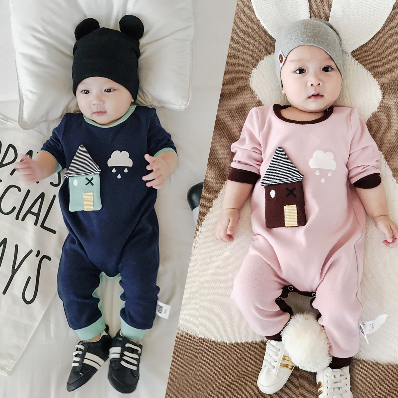 Baby Fall Rompers Winter Cute House 3D Cartoon Cotton Long Sleeve Jumpsuits Boy Girl Baby Outfits Home Pillover Children Clothes cotton baby rompers set newborn clothes baby clothing boys girls cartoon jumpsuits long sleeve overalls coveralls autumn winter