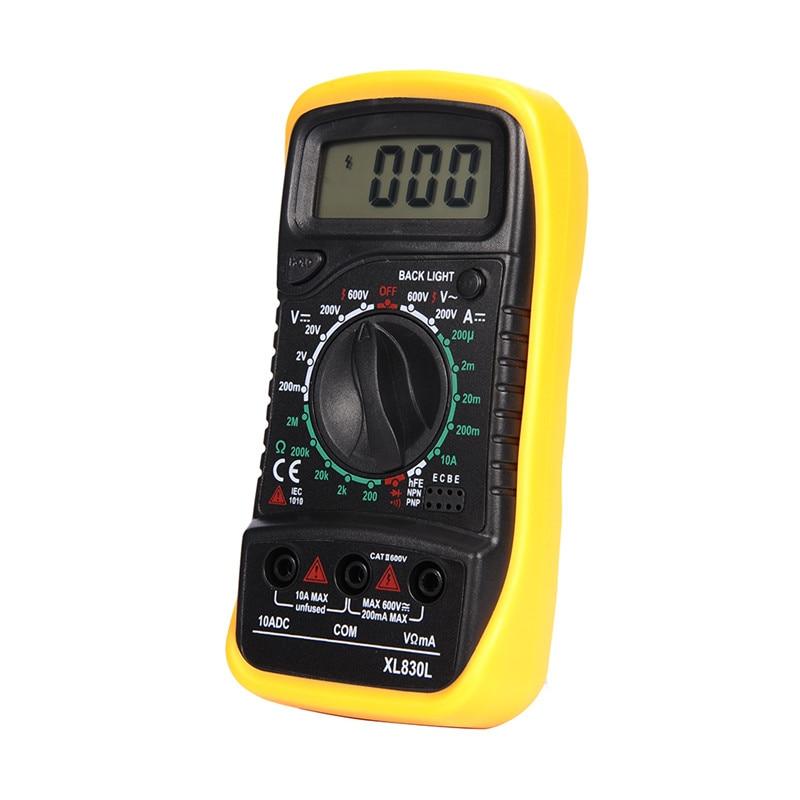 AC DC LCD kijelző Professzionális elektromos kézi tesztermérő Digitális multiméter Multimetro Ampermérő Multitester