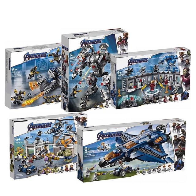 07120 07122 07123 Avengers 4 Endgame Ultimate Quinjet Set Compatible With 76126 76131 Building Blocks Brick Toy