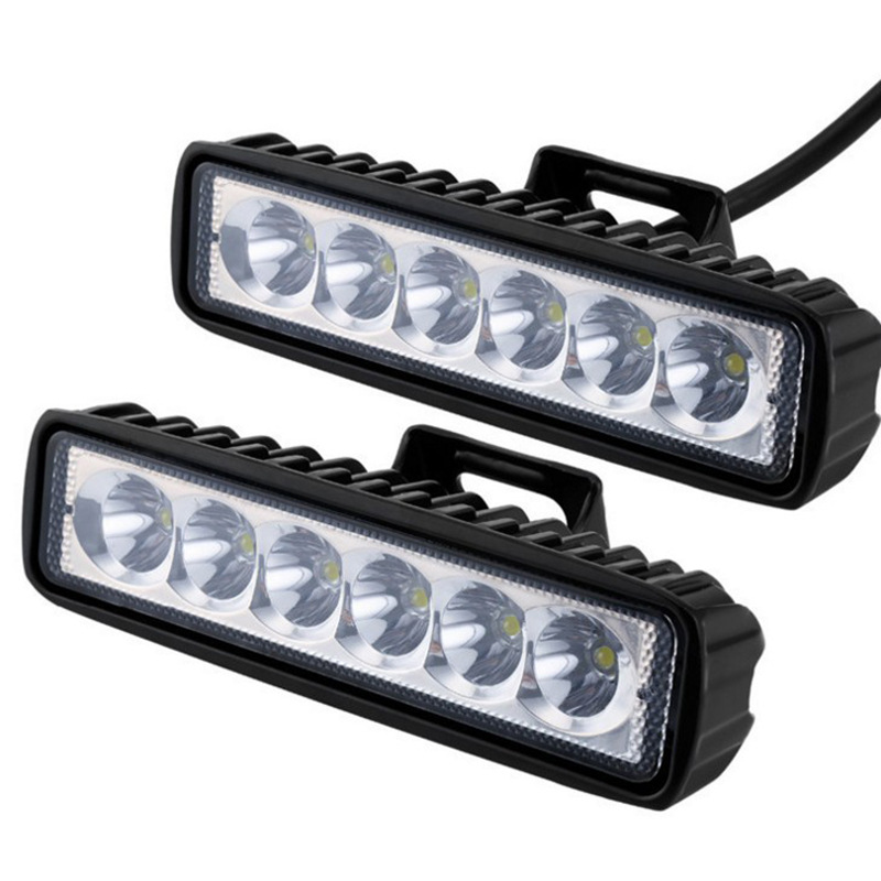 Factory Direct Sales Of 18W6 LED Strip Word Light Spotlight Engineering Auxiliary Light Off-road Vehicle Lighting