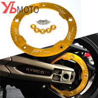 Accessories Motorcycle Aluminum Transmission Belt Pulley Protective Cover For KYMCO AK550 AK 550 2017 black titanium gold red