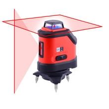 Rojo 5 Líneas de Nivel Láser 4 Grados Autonivelante Horizontal Y Vertical Cross Line Lazer Tool WAL34