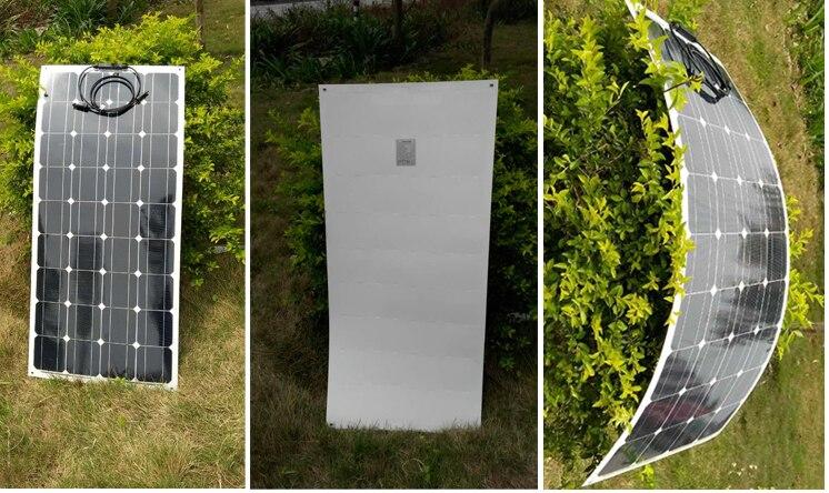 Waterproof Flexible Zonnepanelen 400w 48v Chargeur Solaire Solar Panel China 100w 12v 4 Pcs Outdoor Car Caravan Camping RV LED