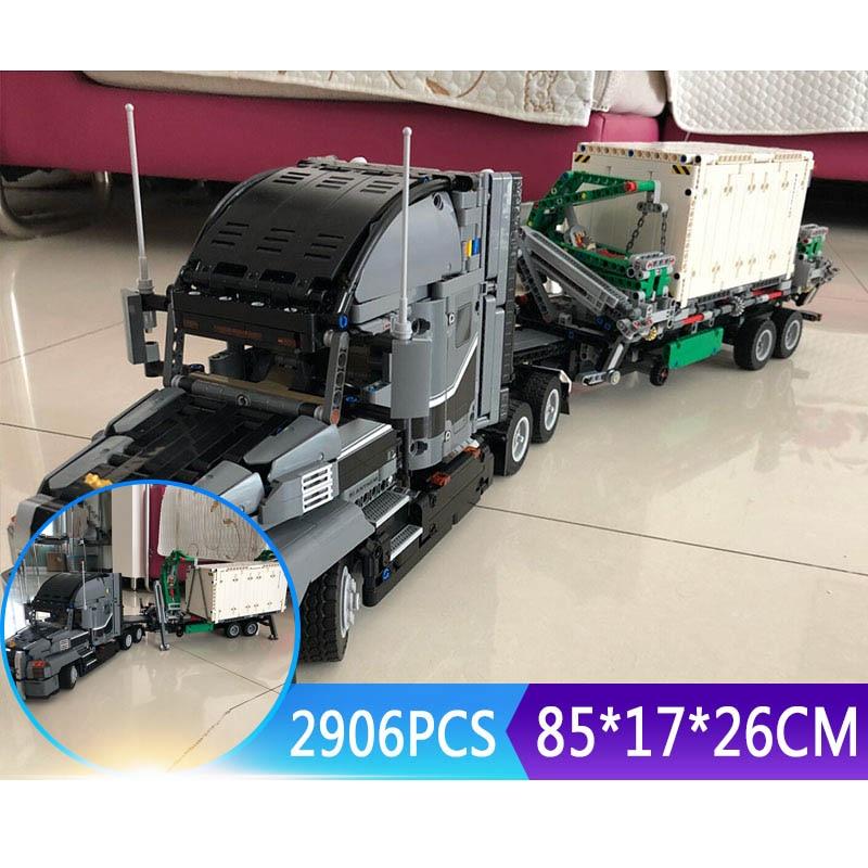 2906Pcs Technic Series 20076 Mack Big Truck Set Compatible With New 42078 Set Building Blocks Bricks